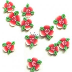 Professional Ozdoby na nehty květiny růžovo-zelené 132 1 balení