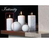 Lima Mramor Intimity vonná svíčka bílá válec 50 x 100 mm 1 kus