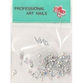 Professional Art Nails ozdoby na nehty hvězdičky stříbrné 1 balení