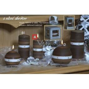 Lima Aura Skořice vonná svíčka hnědá válec 50 x 100 mm 1 kus