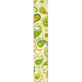 Nekupto Balící papír Jlasik 824 50 BF zeleno oranžové vzory 70 x 150 cm