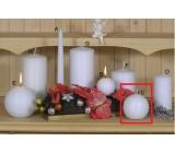 Lima Alfa svíčka bílá koule 80 mm 1 kus