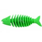 Sum-Plast Gumová kostra ryba malá s vůní vanilky hračka pro psy více barev 14 cm