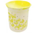 Aromalampa porcelánová s žlutými motýlky 11 cm