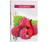 Bispol Aura Raspberry - Malina vonné čajové svíčky 6 kusů