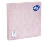 Aha Papírové ubrousky 3 vrstvé 33 x 33 cm 15 kusů Ražené růžové