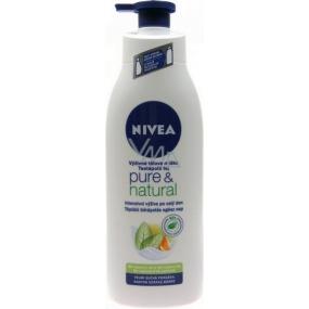 Nivea Pure & Natural Výživné tělové mléko pro velmi suchou pokožku 400 ml
