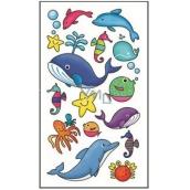 Tetovací obtisky barevné dětské mořský svět 15 x 8,5 cm