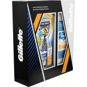 Gillette Fusion Proglide Flexball holící strojek + Gillette Sport Triumph antiperspirant stick pro muže 70 ml, kosmetická sada