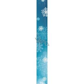 Nekupto Vánoční balicí papír tmavě modrý Vločky 5 x 0,7 m