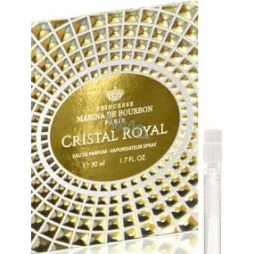 Marina De Bourbon Cristal Royal parfémovaná voda pro ženy 1 ml s rozprašovačem, Vialka