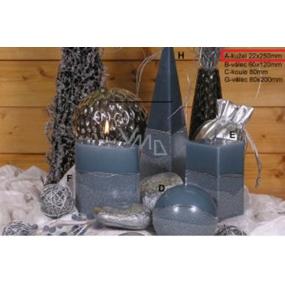 Lima Artic svíčka šedá kužel 22 x 250 mm 1 kus