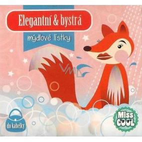 Nekupto Miss Cool Mýdlové lístky Liška Elegantní & bystrá 15 kusů 1 balení