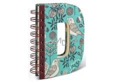 If Alphabooks Note Books Zápisník ve tvaru písmena D 91 x 14 x 124 mm