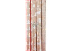 Zöllner Vánoční balicí papír Luxury Chris domečky 1,5 m x 70 cm