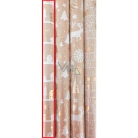 Zöwie Dárkový balicí papír 70 x 150 cm Vánoční Luxusní Chris domečky