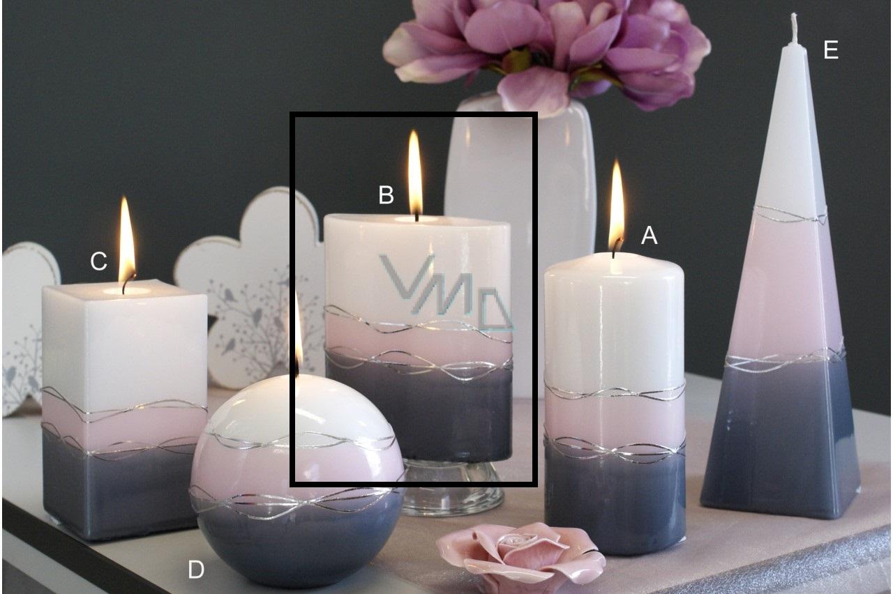 Lima Verona svíčka šedá elipsa 110 x 125 mm 1 kus