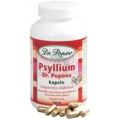 Dr. Popov Psyllium kapsle rozpustná vláknina, navozuje pocit sytosti, podporuje metabolismus 120 kusů 104 g