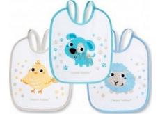 Canpol babies Bunny & Company Bryndák froté/PVC pro děti od 0 měsíců 3 kusy