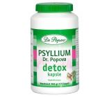Dr. Popov Psyllium Detox Pro intenzivní očistu těla, kombinace vlákniny a účinných rostlinných extraktů 120 kapslí / 104 g