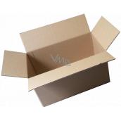 Krabice kartonová, třívrstvá, klopová, délka 60 cm,šířka 40 cm,výška 43 cm, použitá, velmi pevná