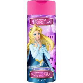 Disney Princess - Šípková Růženka 2v1 sprchový gel a šampon do koupele fialový 400 ml