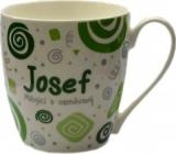 Nekupto Twister hrnek se jménem Josef zelený 0,4 litru 032 1 kus