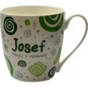 Nekupto Twister hrnek se jménem Josef zelený 0,4 litru