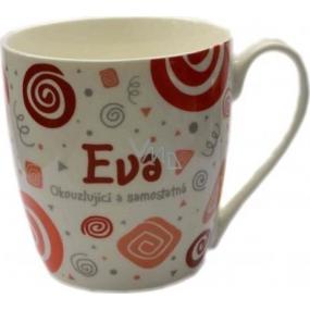 Nekupto Twister hrnek se jménem Eva červený 0,4 litru