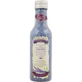 Bohemia Herbs Levandule Premium s extraktem z bylin a vůní levandule koupelová relaxační sůl 250 ml