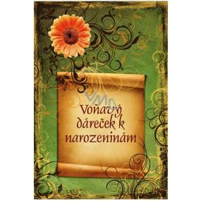 Bohemia Gifts & Cosmetics Vonný sáček Voňavý dáreček Hroznové víno k narozeninám 17 x 11,5 x 1,5 cm