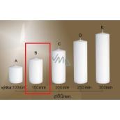 Lima Gastro hladká svíčka bílá válec 80 x 150 mm 1 kus