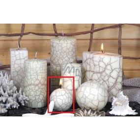 Lima Nevada svíčka slonová kost koule 60 mm 1 kus