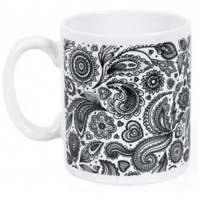 Albi Espresso Hrnek Květinová černobílá tapeta, 100 ml