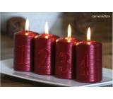 Lima Adventní sada s čísly svíčka červená válec 60 x 90 mm