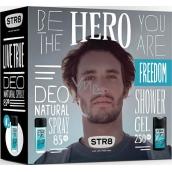 Str8 Live True parfémovaný deodorant sklo pro muže 85 ml + sprchový gel 250 ml, kosmetická sada