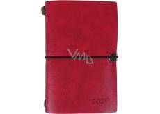 Albi Diář 2020 týdenní luxusní Červený 17,8 x 12 x 1,5 cm