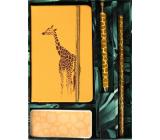 Albi Psací set Žirafa malý sešit + propiska + tužka + samolepící bloček