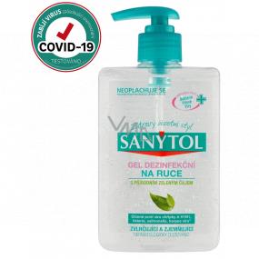 Sanytol Dezinfekce dezinfekční gel na ruce se Zeleným čajem, ničí viry a bakterie s dávkovačem 250 ml