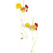 Kohoutek žlutobílý 38 x 7 cm