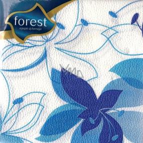 Forest Papírové ubrousky Modrý květ 1 vrstvé 30 x 30 cm 45 kusů