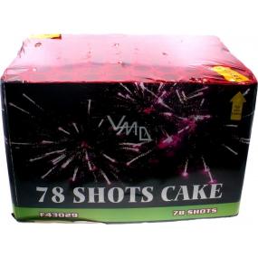 78 Shots Cake kompakt pyrotechnika CE3 78 ran prodejné od 21 let!