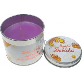 Nekupto Levandule dárková vonná svíčka 002 Nejlepší babička 18 g