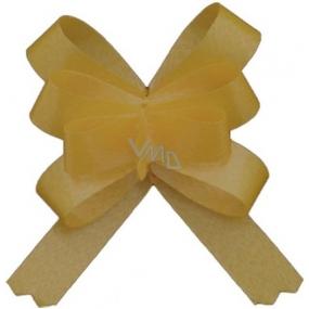 Kokarda stuha stahovací ozdobná zlatá 50 cm