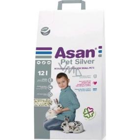 Asan Pet Silver stelivo pro zakrslé králíčky a hlodavce 12 l