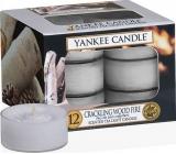 Yankee Candle Crackling Wood Fire - Praskající oheň v krbu vonná čajová svíčka 12 x 9,8 g