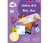 Ditipo Stíratelný sešit Jedna, dvě pro děti 3-5 let 16 stran 215 x 275 mm