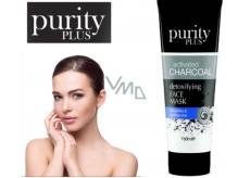 Purity Plus Activated Charcoal Aktivní dřevěné uhlí detoxikační a čisticí pleťová maska 100 ml