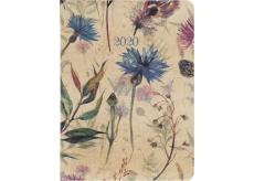 Albi Diář 2020 týdenní Luční květy 17 x 12,5 x 1,2 cm