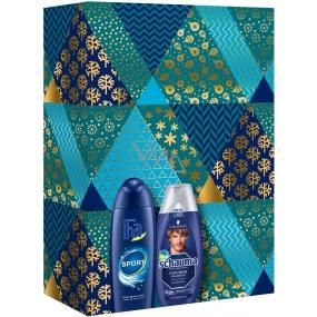 Fa Men Sport sprchový gel pro muže 250 ml + Schauma For Men pečující šampon na vlasy 250 ml, kosmetická sada